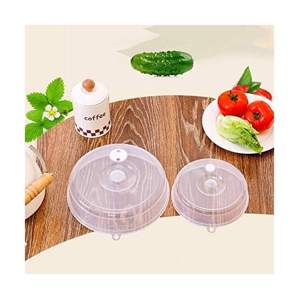 RoadRoma Cubierta de Placa de microondas con ventilaciones de Vapor Cubierta de Plato Cubierta de Salpicadura de… 3