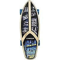 FREEGUN Cruiser Fat Skateboard Mixte Enfant, Multicolor