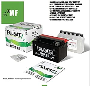 Fulbatt 550624B538 Batterie YTR4A-BS pour Honda X8R-X/X8R-S Bj: 99--00 (Volt/Ampere) 12/2 3