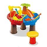 BOROK Kinder Strandspielzeug Set Badespielzeug Sandspielzeug Spieltisch Wasserspielzeug Kleinkinder Spielzeug für Badeurlaub