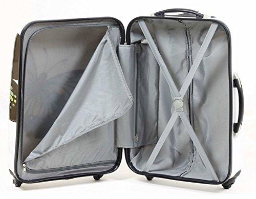 51%2B2455gm9L - Valise rigide en carbone/polycarbonate case valise trolley papillon blanc taille xL