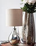 Gayle Glass Table Lamp Silver
