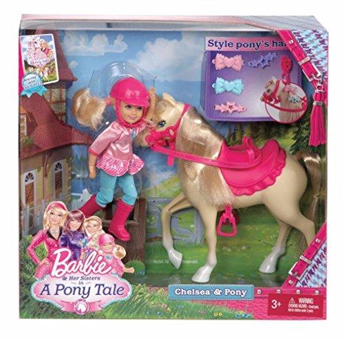 Mattel X8412 - Barbie und ihre Schwestern im Pferdeglück Chelsea, Puppe mit Pony