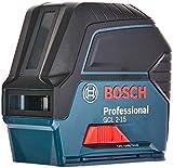 Bosch Professional Kombilaser GCL 2-15 mit 3 x Batterie (AA) mit Zubehör-Set
