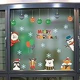 Prevently Weihnachts Weihnachtsmann Aufkleber, Weihnachtsbaum Weihnachtsanhänger Weihnachtskugel Removable Wandaufkleber Wand Aufkleber Merry Christmas Dekoration