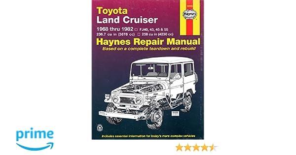 toyota land cruiser 68 82 1968 to 1982 haynes automotive rh amazon co uk FJ Cruiser Logo Custom FJ Cruiser