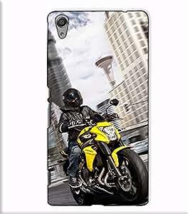 Fuson Designer Back Case Cover for Sony Xperia C6 Ultra Dual (Sports Bike theme)