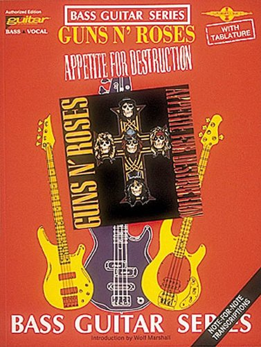 FABER MUSIC GUNS N' ROSES - APPETITE FOR DESTRUCTION - BASS TAB - Roses Tab Guns And