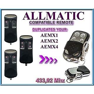 ALLMATIC AEMX1 / AEMX2 / AEMX4 433,92Mhz Kompatibel handsender / KLONE