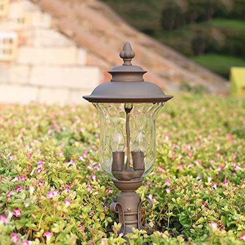 Zhang Ying ZY * Europäischen Stil säule Lampe Wandleuchte Outdoor Colonial Outdoor Post Licht Tür Garten Landschaft Weg Beleuchtung Spalte Lampe wasserdichte Doppel E27 sockel -