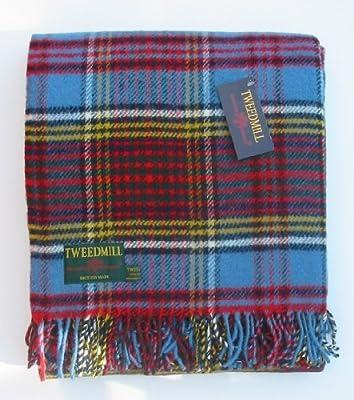Anderson tartan pure new wool knee rug throw - British made - Tweedmill