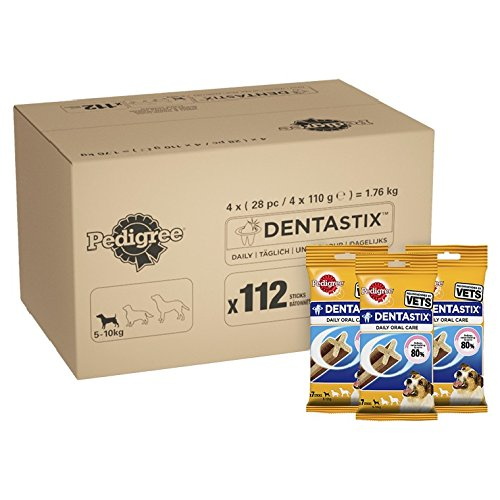 Pedigree DentaStix Daily Dental Chews for Small Dogs 5-10 kg, 28 Sticks, 4 x 110 g (Pack of 4)