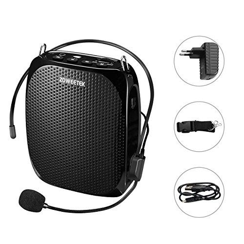 Zoweetek Amplificador portatil (10W) con 1800 mAh batería de Litio con un microfono para guías Maestros Profesores Artistas animadores promotores de Ventas,etc
