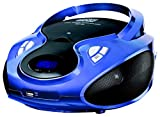 CD-Player | Tragbares Stereo Radio | Kinder Radio | Stereo Radio | Stereoanlage | USB | CD / MP3 Player | Radio | Kopfhöreranschluss | AUX IN | LCD-Display | Batterie sowie Strombetrieb | (Blau)