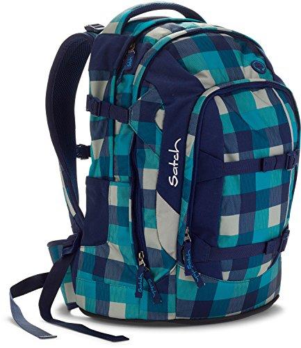 4c947f4afd752 Satch Schulrucksack-Set 5-tlg Pack Blister 932 karo blau-türkis -  schultasche.im-shop.eu