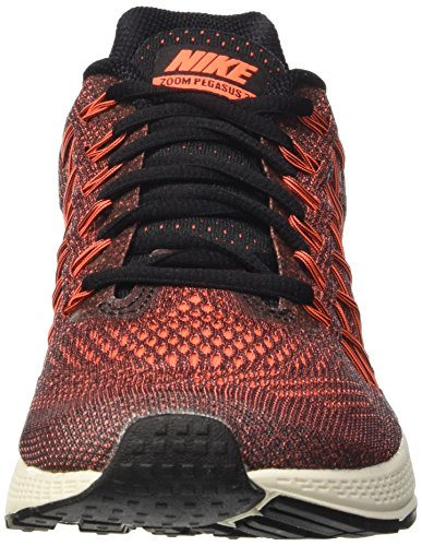 Nike Wmns Air Zoom Pegasus 32, Scarpe da ginnastica, Donna Multicolore (Black/Hyper Orange-Brght Crmsn)