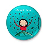 #6: Doodle Monk Spread Love (Girl) - Badge