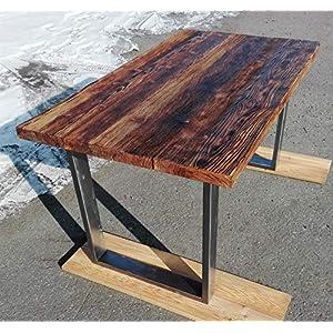 Industrielle Esstisch Vintage Küchentisch Metall Holz handgemachte Einheit Möbel