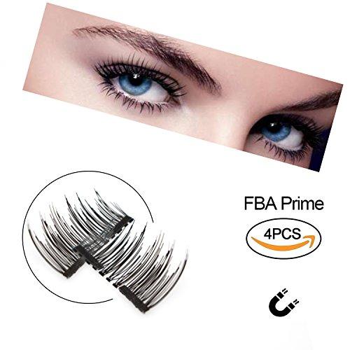 Nuove ciglia finte magnetiche ultra sottili, effetto 3d, riutilizzabili. le miglior extension per ciglia naturali, perfette per occhi profondi e rotondi. (4 pezzi)