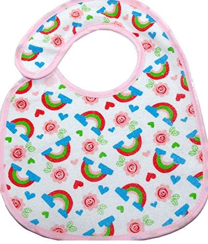 Baby Lätzchen rosa Mädchen mit PEVA Rückseite - 2-er Pack - 2