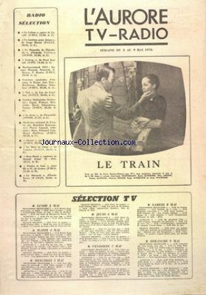 AURORE TV RADIO (L') du 03/05/1976 - SELECTION...