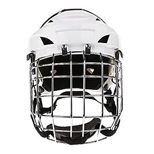 SM SunniMix Einstellbare Eishockey Helm u0026 Gesichtsmaske Für Männer u0026 Frauen Weiß