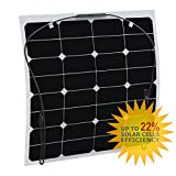 50W flexible solar panel made of back-contact cells with durable ETFE coating, for motorhome, caravan, camper, rv, boat, yacht, lorry, trailer, or an off-grid solar power system
