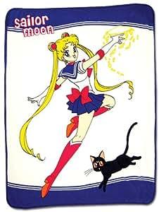 Great Eastern divertissement Sailormoon Sailor Moon et Luna Jeté de lit, coton, Multicolore