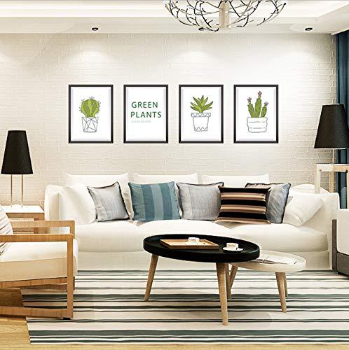 WFYY Topf Kaktus Topf In Rahmen Wandaufkleber PVC Wasserdicht Abnehmbare Wandtattoos Für Badezimmer Wohnzimmer Küche Dekoration