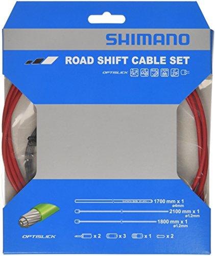 Shimano OPTISLICK Schaltzug-Set Road rot 2016 Schaltzug/-hülle