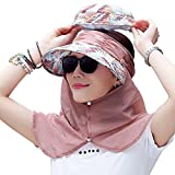 Yimidear® Faltbare Sommer Sonnenhut Weiblicher Hut Baseball Kappe Frauen Anti-UV Hut (Pink)