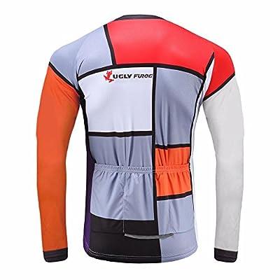 Uglyfrog Fahrradbekleidung Herren Winter Langarm Radtrikot Thermo Gemütlich MZ02