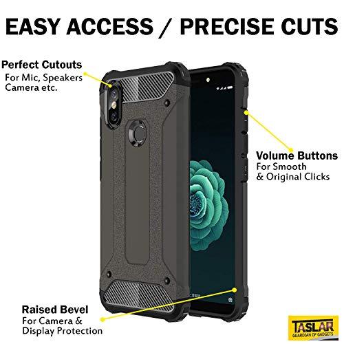quality design 5e3e1 1257d Taslar Dual Layer Hybrid Armor Case Protector Back Cover for Xiaomi Mi A2