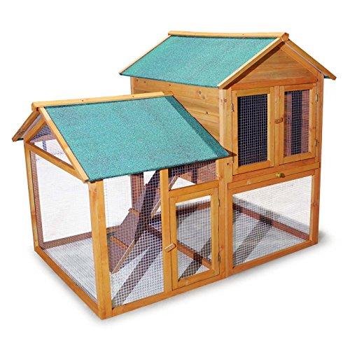 Cabane pour rongeurs Poulailler Clapier pour lapin Abri pour petits animaux Enclos Rongeur