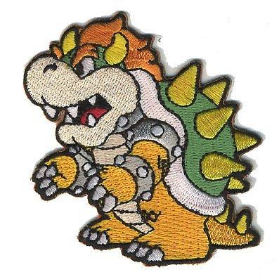 (Stoffabzeichen, Mario Brother–Bowser, bestickt, zum Aufnähen oder Aufbügeln, 7,5cm)