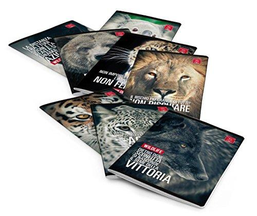 Pigna wildlife meme 02297215m, quaderno formato a4, rigatura 5m, quadretti 5 mm per 2° e 3° elementare, carta 80g/mq, pacco da 10 pezzi