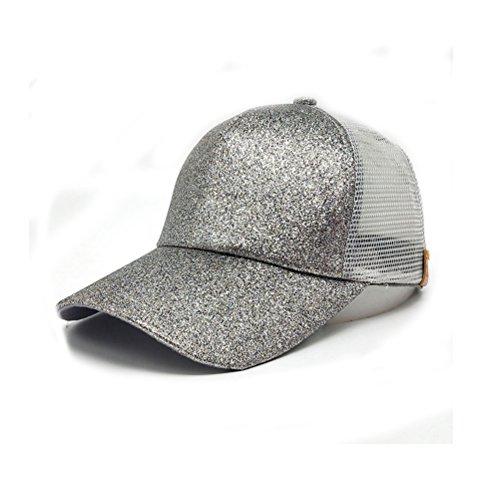 TTD Glither-Pferdeschwanz-Kappen-Ineinander greifen-Fernlastfahrer-Hut der Frauen-justierbarer Hysteresen-Leere Baseballmütze