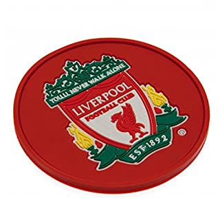 Liverpool Football Club Official Red Silicone Rubber Coaster Badge Crest