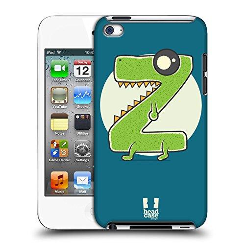 Head Case Designs Rasierer Z Alphabet Monster Harte Rueckseiten Huelle kompatibel mit Apple iPod Touch 4G 4th Gen