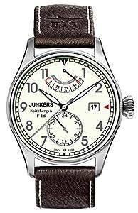 Junkers Spitzbergen F13 - Reloj de automático para hombre, con correa de cuero, color marrón de Junkers