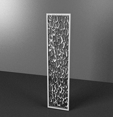 Celosía decorativa lacado blanco satinado mdf 25mm