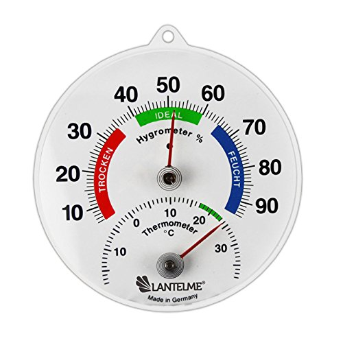 Bimetall Kombi Thermometer / Hygrometer Analog . Thermohygrometer / Luftfeuchtemessung .