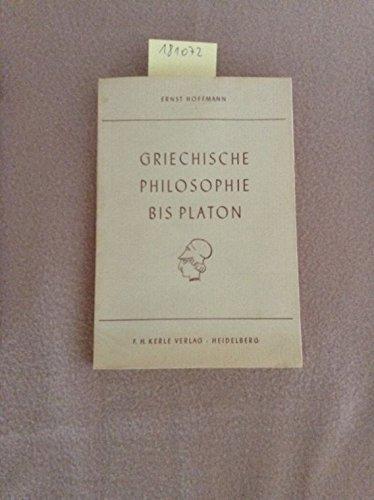 Griechische Philosophie bis Platon