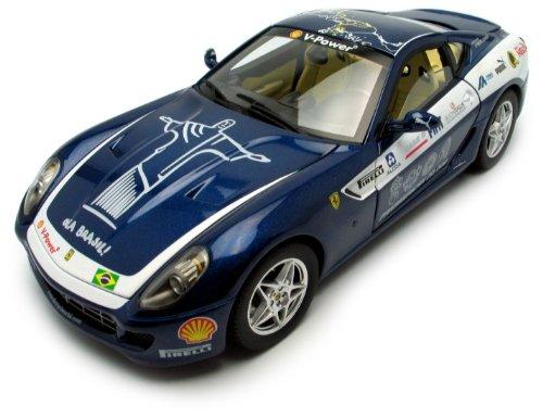 hotwheels-l7125-vehicule-miniature-elite-mattel-ferrari-599-gtb-panamerica-06-bleu-echelle-1-18