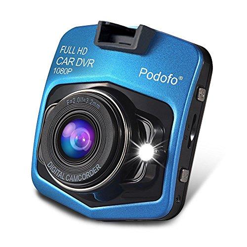 podofo Dashcam Mini GT300 A8 Rekorder Fahr-Auto Kamera-Recorder Fahrzeug Video DVR Full HD 1080P Nachtsicht Weitwinkelobjektiv (Blau)