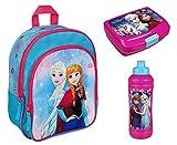 Familando FRZH7601 Disney`s Eiskönigin 3tlg. Set Rucksack mit Brotdose und Trinkflasche z.B. für den Kindergarten