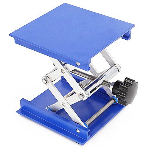 100*100mm Aluminum Lab Jack Scissor Rack Lab-Lift Lifting Platforms Stand 5KG by Anddas Test