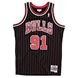 Mitchell & Ness Swingman Jersey Chicago Bulls Dennis Rodman 91 Black/Red XXL