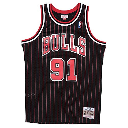 Mitchell & Ness Swingman Jersey Chicago Bulls Dennis Rodman 91 Black/Red XXL (Nba Trikot Xxl)