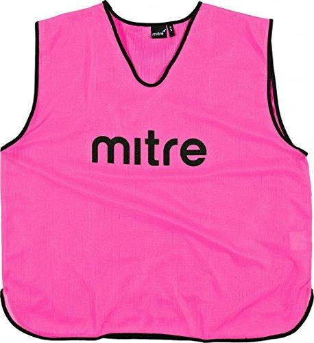 Mitre Pro Fußball Trainingsleibchen Pink/Black, Senior -